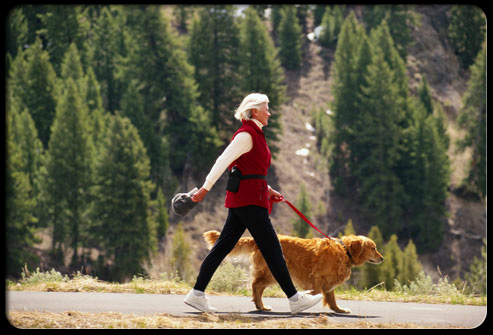 27 ways pets can improve your health s18 walking dog 27 Ways Pets Can Improve Your Health